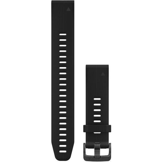 Garmin Fenix 5S QuickFit 20mm silikoniranneke musta XL 010-12739-07