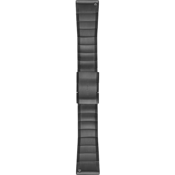 Garmin Fenix 5X Quickfit 26mm DLC hiilenharmaa titaaniranneke 010-12741-01
