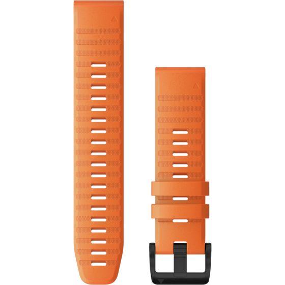 Garmin Quickfit 22mm oranssi silikoniranneke 010-12863-01