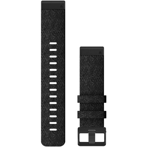 Garmin Quickfit 22mm musta nailonranneke 010-12863-07