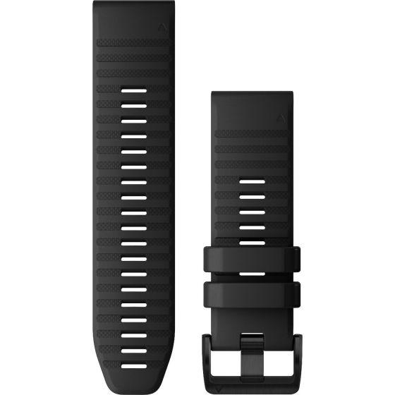Garmin Fenix 6X Quickfit 26mm musta silikoniranneke 010-12864-00