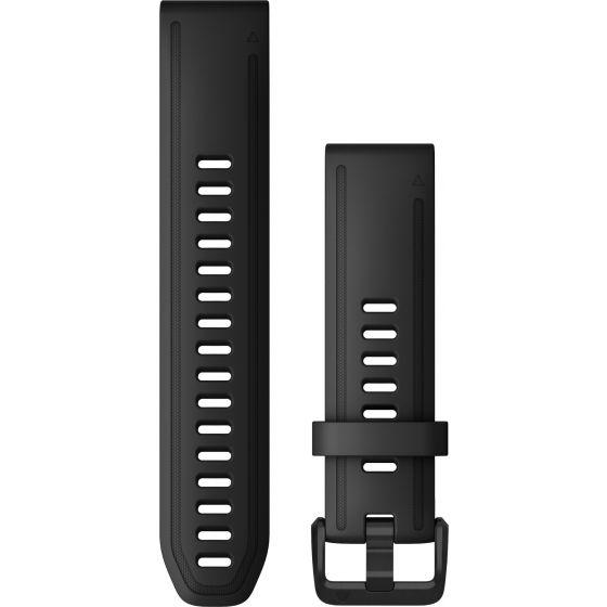 Garmin Quickfit 20mm musta silikoniranneke 010-12867-00