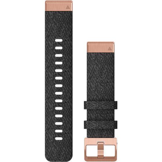 Garmin Quickfit 20mm musta-rose nailonranneke 010-12874-00