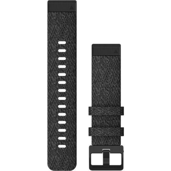 Garmin Quickfit 20mm musta nailonranneke 010-12875-00