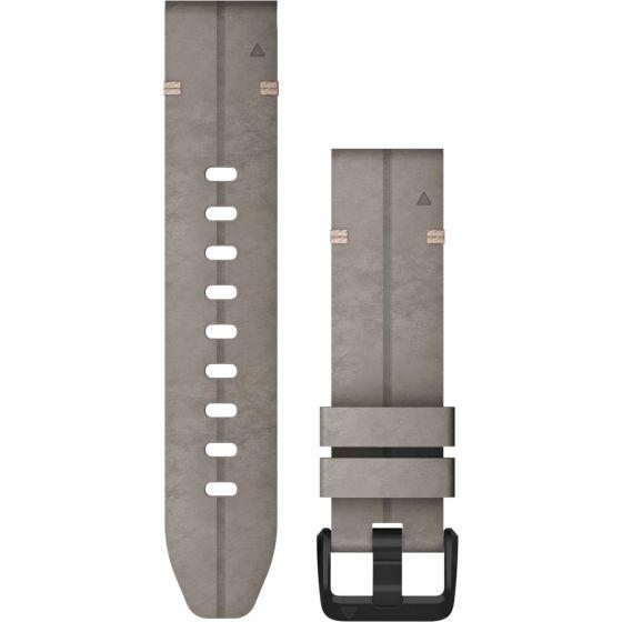Garmin Quickfit 20mm mokkanahkaranneke 010-12876-00