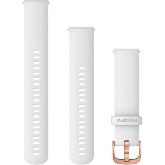 Garmin valkoinen Quick release -silikoniranneke 20mm 010-12924-10
