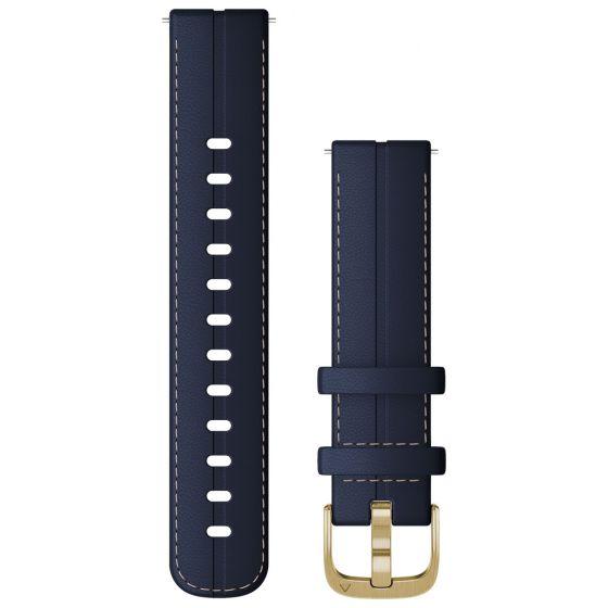 Garmin Quick Release nahkaranneke tummansininen 18 mm 010-12932-08