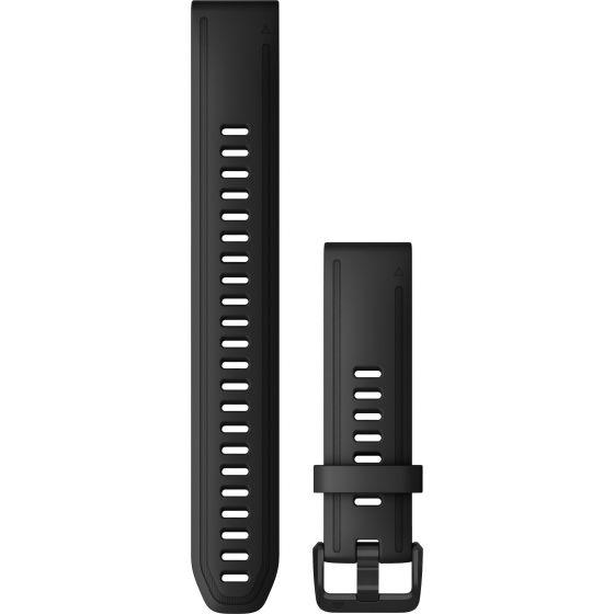 Garmin Quickfit 20mm musta suuri silikoniranneke 010-12942-00