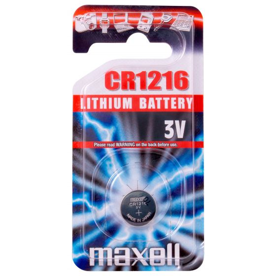 Maxell litiumparisto CR1216 3V