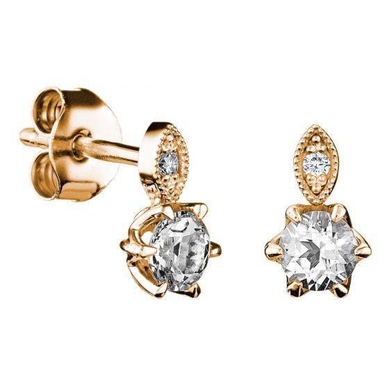 Kohinoor Clara 143-269-02 keltakultaiset timanttikorvakorut