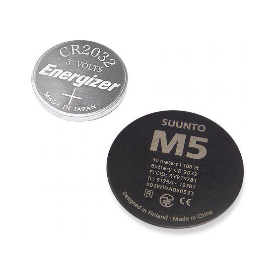 Suunto M5 vaihtoparisto, musta takakansi