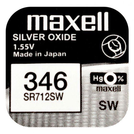 Maxell SR712SW hopeaoksidiparisto 346