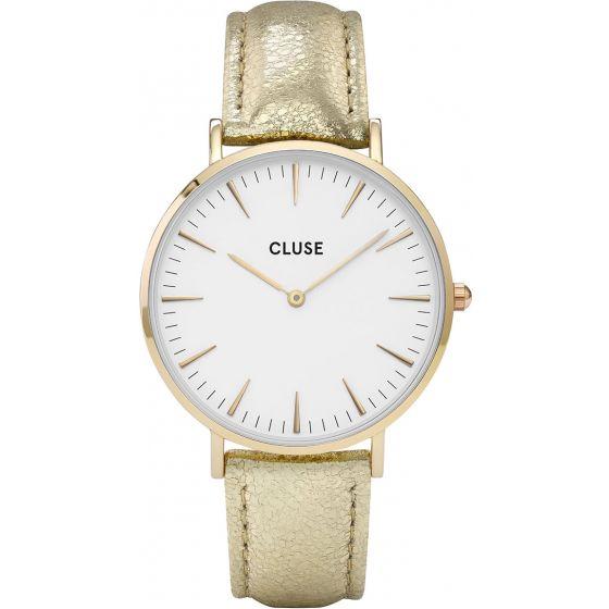 Cluse CL18421 La Boheme Gold White/Gold Metallic