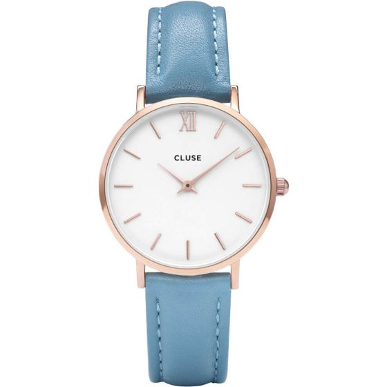 Cluse CL30046 Minuit Rose Gold Retro Blue