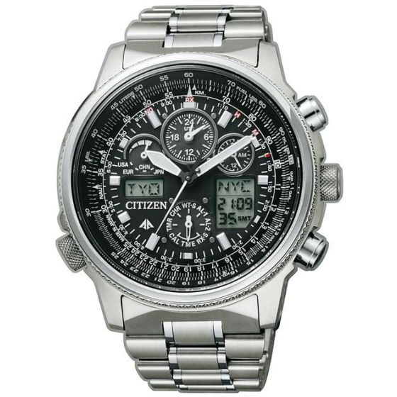 Citizen Eco-Drive Radio Controlled Global Skyhawk JY8020-52E