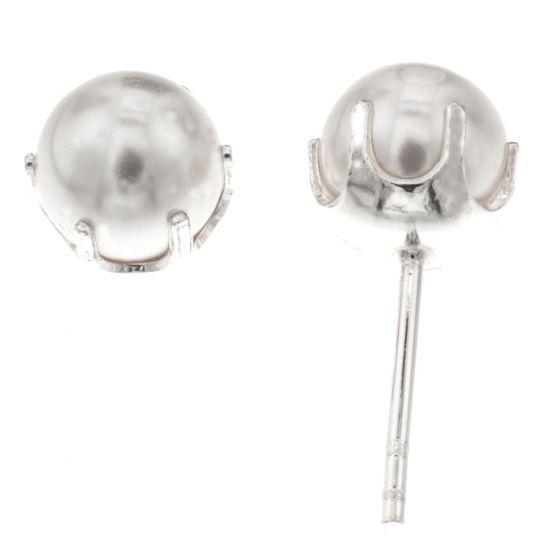 Silver Bar helmikorvakorut 6 mm 4220