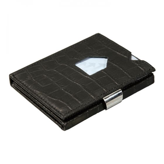 Exentri korttikotelo Caiman Black RFID suojattu