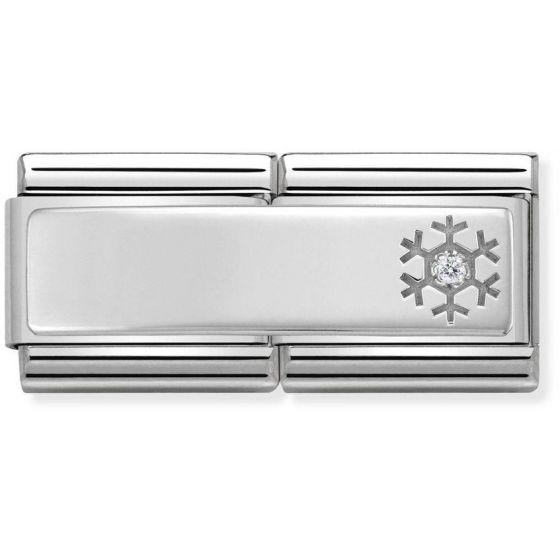 Nomination Silvershine Double Snowflake with CZ 330730-04