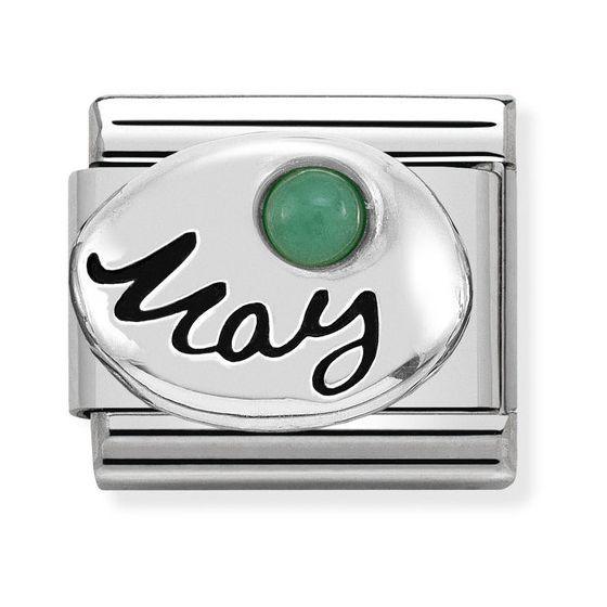 Nomination SilverShine May Emerald 330505-05