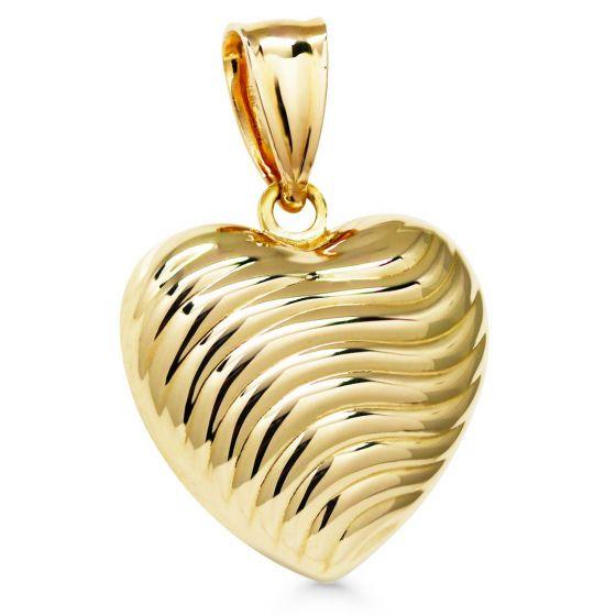 Kultariipus sydän ontto pullea aalto kuvioA-5778