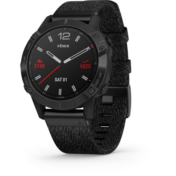 Garmin Fenix 6 Sapphire Black DLC älykello 010-02158-17