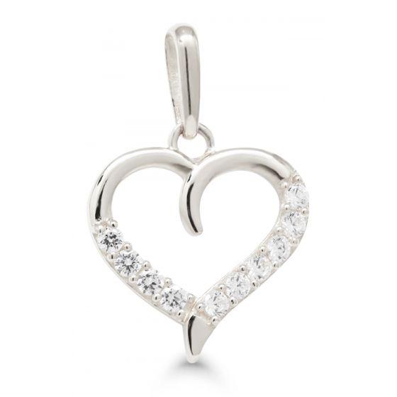 Kultariipus sydän kirkas zirkonia K-P64024ZW
