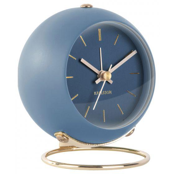 Karlsson KA5833BL herätyskello Globe Dark Blue