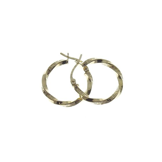 Kultaiset rengaskorvakorut saranoilla 20 mm KR3-2