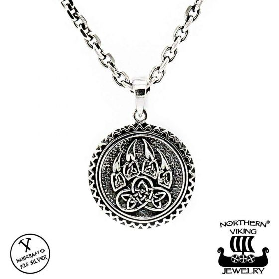 Northern Viking Jewelry Karhun Käpälä hopeariipus NVJ-H-RS037