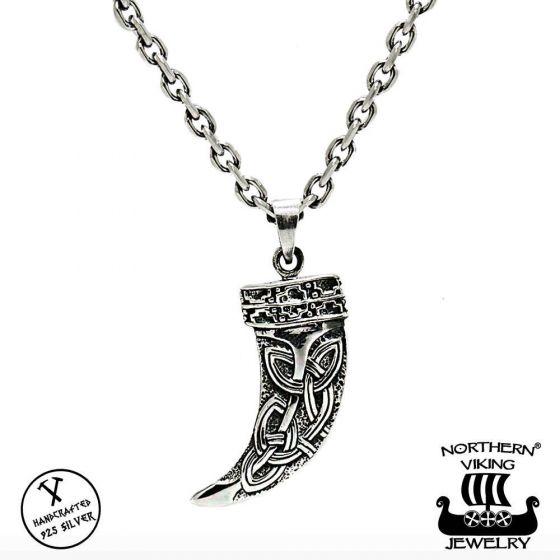 Northern Viking Jewelry Fenrir Sudenhammas hopeariipus NVJ-H-RS045