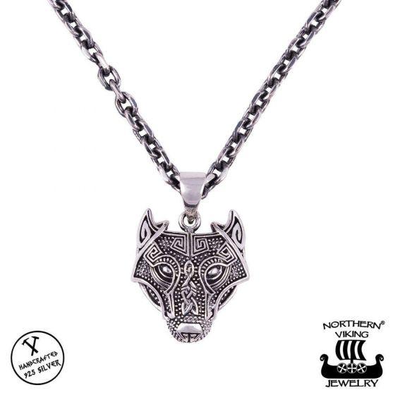 Northern Viking Jewelry Guardian Wolf hopeariipus NVJ-H-RS060