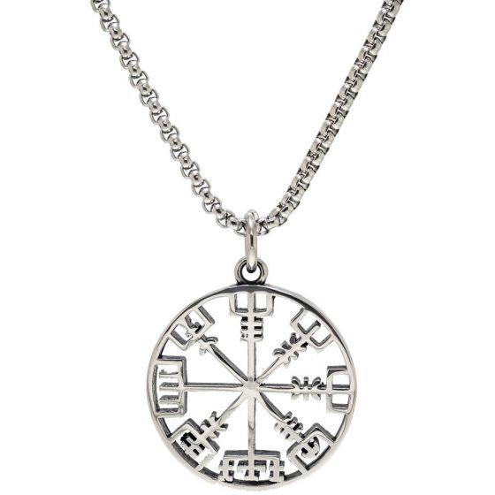 Northern Viking Jewelry Vegvisir Viikinkikompassi NVJRS079 kaulakoru