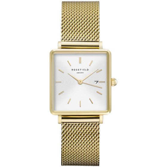 Rosefield The Boxy QWSG-Q03 White Sunray/Mesh/Gold