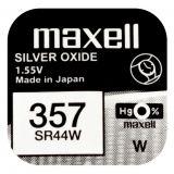 Maxell SR44W hopeaoksidiparisto 357