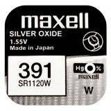 Maxell SR1120W hopeaoksidiparisto 391
