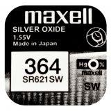 Maxell SR621SW hopeaoksidiparisto 364