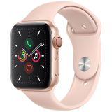 Apple Watch Series 5 GPS + Cellular kullanvärinen alumiinikuori 44mm hietaroosa urheiluranneke MWWD2KS/A