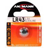 Ansmann alkalinappiparisto LR43 1.5V