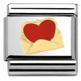 Nomination 030253-24 sydän kirjekuoressa