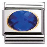 Nomination ovaali sininen zircon 030601-007