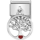 Nomination Silvershine Tree of Life with Red Heart 331805-07