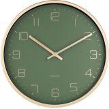Karlsson Gold Elegance KA5720GR Green seinäkello 30cm