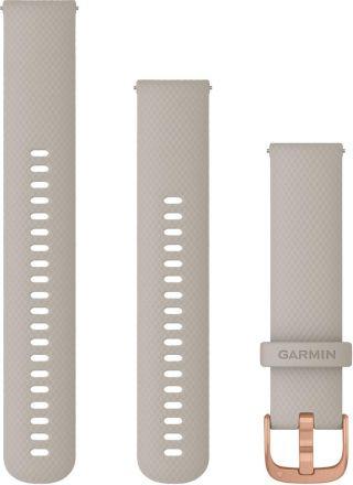 Garmin hiekanvärinen Quick release -silikoniranneke 20mm 010-12932-12
