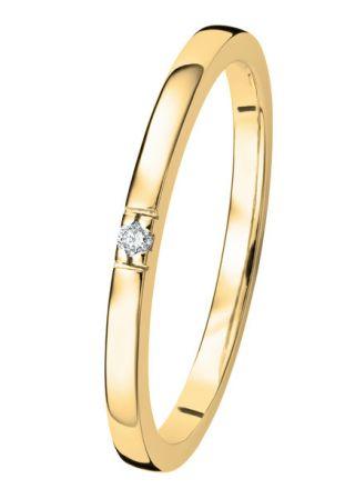 Kohinoor Linnea timanttisormus kulta 033-406-01
