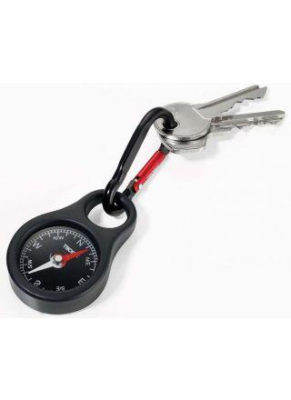 Troika karabiini kompassi avaimenperä COS10/BK