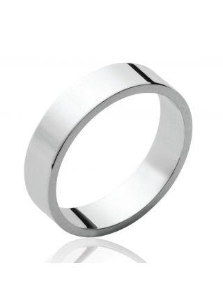 Hopeinen sormus 5mm 72428005