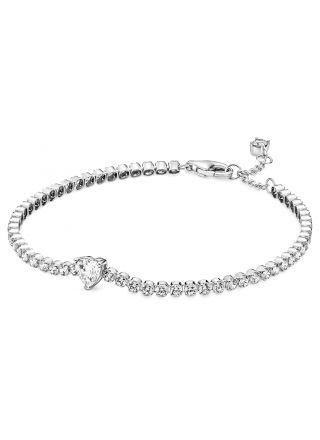 Pandora Sparkling Heart Tennis Bracelet rannekoru 590041C01