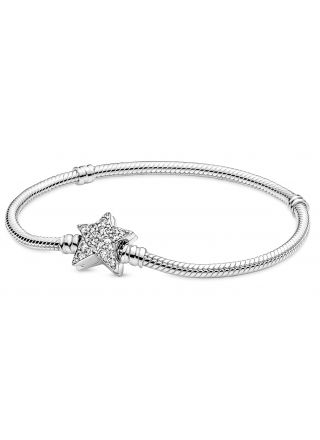 Pandora Moments Star Clasp Snake Chain Bracelet rannekoru 599639C01