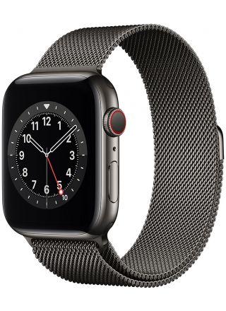 Apple Watch Series 6 GPS + Cellular grafiitinharmaa ruostumaton teräskuori 44 mm grafiitinharmaa milanolaisranneke M09J3KS/A