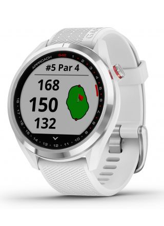 Garmin Approach S42 Polished Silver with White Band 010-02572-01